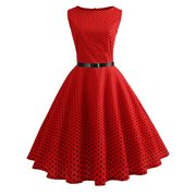 7a2f077c8ab Women Vintage Polka Dot Evening Cocktail Party Swing 1950s 60s Rockabilly  Dress