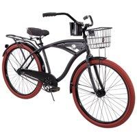 """Huffy 26"""" Nel Lusso Men's Cruiser Bike, Matte Black"""