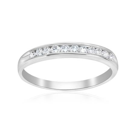 Pompeii3 1/4ct Diamond 14k White Gold Wedding Stackable Ring Womens Channel Set (Gold Channel Wedding Band)