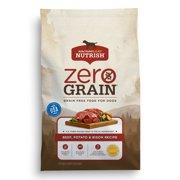 Rachael Ray Nutrish Zero Grain Natural Dry Dog Food, Beef, Potato & Bison Grain Free Recipe, 11 lbs