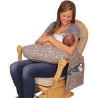 Leachco Rockin' Pockets Contoured Nursing Pillow, Delicate Branch Taupe