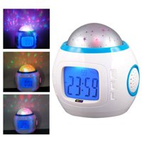 Royal-plush Children Room Sky Star Night Light Projector Lamp Alarm Clock sleeping music