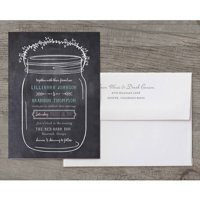 Mason Jar Deluxe Wedding Invitation