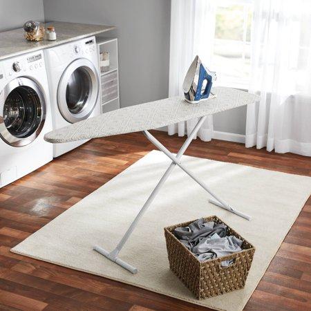 Toy Ironing Board - Mainstays T-Leg Ironing Board, Grey Diamond Tile