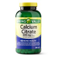 Spring Valley Calcium Citrate Tablets, 600 mg, 300 Ct
