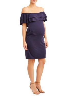 Maternity Double Ruffle Dress