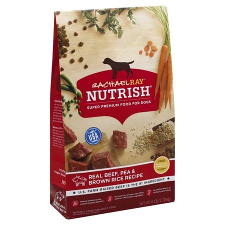 - Rachael Ray Nutrish Natural Dry Dog Food, Real Beef, Pea & Brown Rice Recipe, 6 lbs