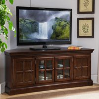 "Leick Home Bella Maison 56"" Corner TV Stand for TV's up to 65"", Chocolate Cherry"