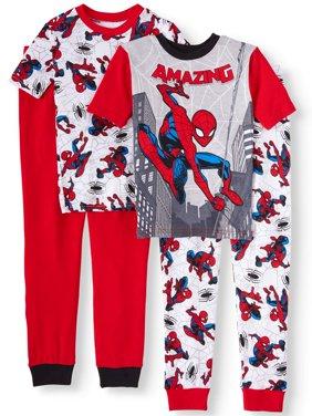 Spider-Man Boys' 4-Piece Pajama Sleep Set