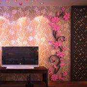 1a7864cb1 3D Mirror Flower Decal Wall Sticker DIY Removable Art Mural Room Decor
