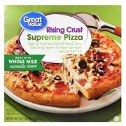 Great Value Frozen Rising Crust Supreme Pizza, 30.7 oz