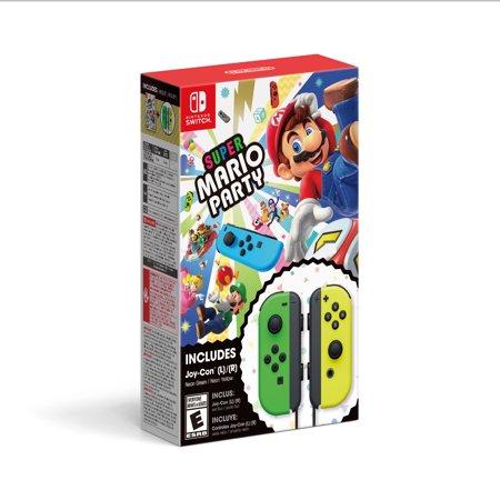 Nintendo Switch, Super Mario Party + Joy-Con (L/R) Green / Yellow, HACRADFJA (Mario Punch Light)