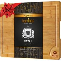 Bamboo Cutting Board for Kitchen - Best for Chopping Meat and Vegetables - Small, 10 x 15 inches by Royal Craft Wood