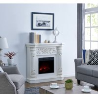 Bold Flame 40 inch Electric Fireplace Heater in White