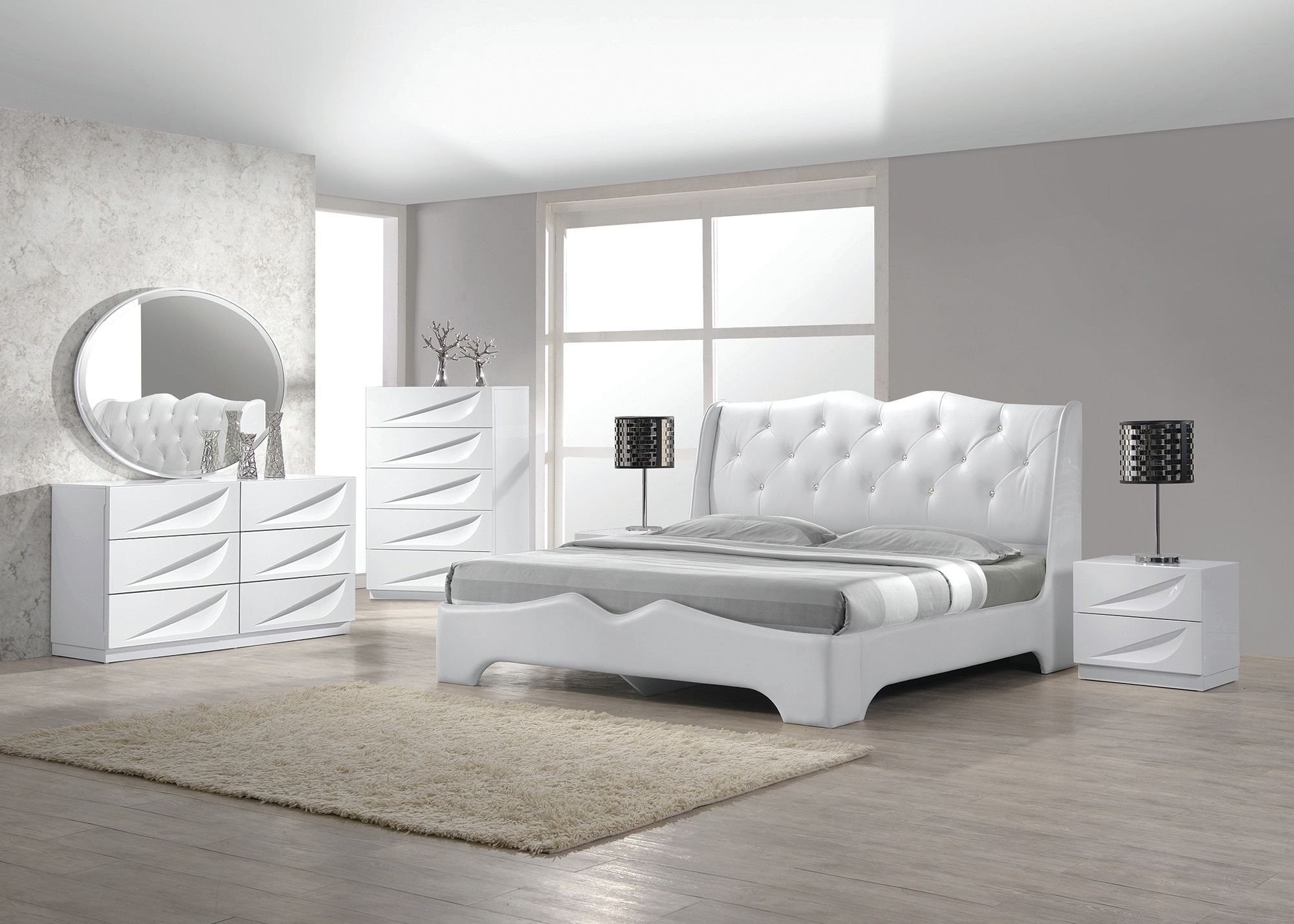 White Lacquer Bedroom Furniture