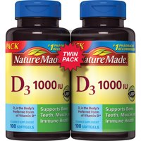 Nature Made D₃ 1000 IU Softgels, 100 count, 2 pack