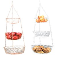 Fox Run Hanging 3 Tier Fruit and Vegetable Basket - Color May Vary