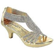 0d1df6b3fde Angel-37 Women Party Evening Dress Bridal Wedding Rhinestone Platform  Kitten Heel Sandal Shoes Gold