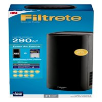 Filtrete by 3M Room Air Purifier, Large Room Tower, 290 SQ Ft Coverage, Black, TRUE HEPA Filter Included