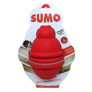 Large Red Rubber Sumo Dog Toy