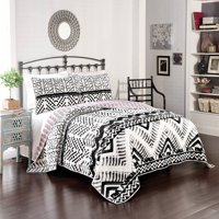 Better Homes and Gardens Aztec Chevron Quilt, Black and White