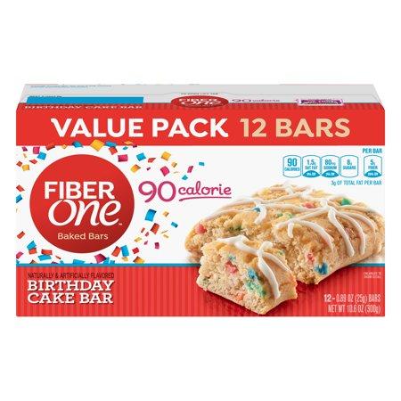 Fiber One Birthday Cake Baked Bar 12ct 089 OZ