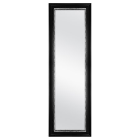 Mainstays Over-the-Door Mirror, Black with Pewter, 17