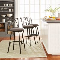 Mainstays Benson Adjustable Height Swivel Barstool, Set of 3
