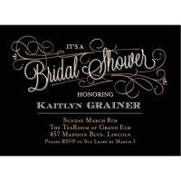 Classic Script Standard Bridal Shower Invitation
