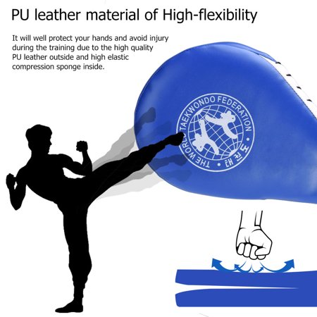 Zerone Striking Pad,1 PC Double  Clapper Target Focus Kick Striking Pad Karate Taekwondo Kickboxing