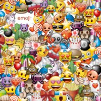 "Emoji Party Cotton Fabric By The Yard, 44/45"" W, Yellow/Green"