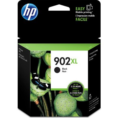 HP 902XL Black High Yield Original Ink Cartridge (Long Lasting Black Ink)