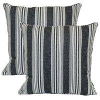 Better Homes & Gardens 19 x 19 in. Mirrored Stripe Outdoor Toss Pillow - Set of 2