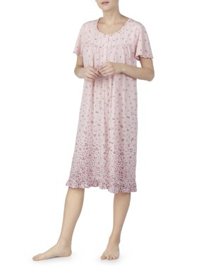Secret Treasures Women's and Women's Plus Traditional Flutter Sleeve Gown