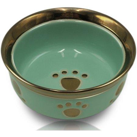 Ceramic Metallic Pets Bowl, Small (Super Pet Ceramic)