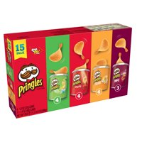 Pringles Grab & Go Stack Potato Crisps Variety Pack, 20.6 Oz., 15 Count