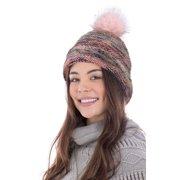 Womens Winter Warm Braided Crochet Knit Baggy Beret Ski Cap Beanie Hat