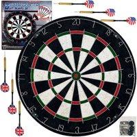 Trademark Games Pro Style Regulation Size Bristle Dart Board Set with 6 Darts & Board