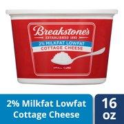 Breakstone's Small Curd 2% Milkfat Lowfat Cottage Cheese 16 oz Tub