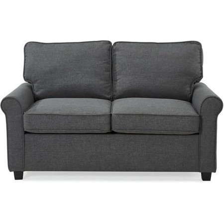 Mainstays 57 Loveseat Sleeper With Memory Foam Mattress Grey