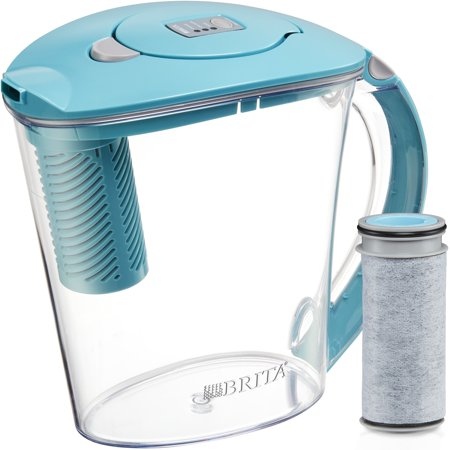 Brita 10 Cup Stream Filter as You Pour Water Pitcher with 1 Filter, Rapids, BPA Free, Lake (Best Water Ionizer Pitcher)