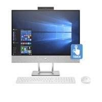 "HP Pavilion 24-X030 Blizzard White 24"" Touch All in One PC, Windows 10, Intel Core i7-7700T Processor, 8GB Memory, 16GB Optane mem + 1TB 7200 RPM HDD Hard Drive, B&O Pavilion Audio"