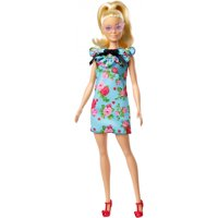 Barbie Fashionistas Doll, Original Body Type Wearing Teal Floral Dress