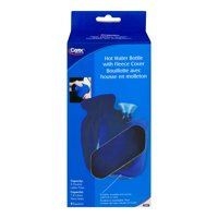 Carex Hot Water Bottle With Fleece Cover, 1.0 CT