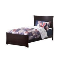 Metro Twin XL Traditional Bed with Matching Foot Board, Multiple Colors and Sizes