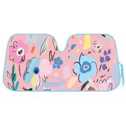 Flower Drawing Auto Sun Shade for Car SUV Truck - Pretty in Light Pink -  Double b9d8a5aec81