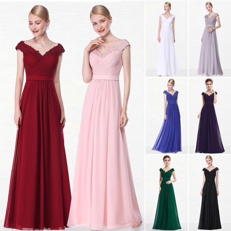 Ever-Pretty Women's Off Shoulder Lace Appliques Long Formal Evening Wedding Party Dresses for Women 08633 Burgundy 4 US