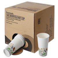 Boardwalk Convenience Pack Paper Hot Cups, 16 oz, Deerfield Print, 180/Carton -BWKDEER16HCUPOP