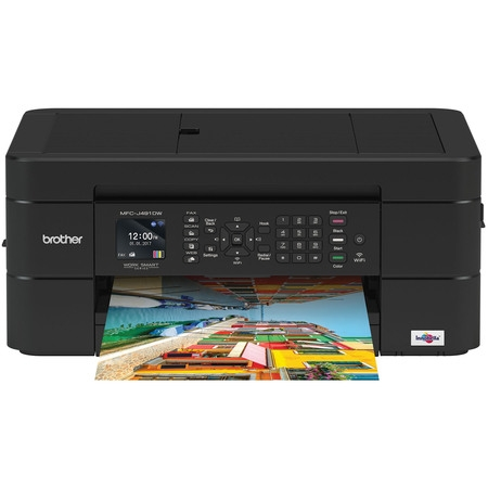 Brother MFC-J491DW Compact, Wireless Color Inkjet All-in-One Printer (Genuine Hp Color Inkjet)