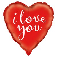 """Foil """"I Love You"""" Heart Balloon, 18 in, Red, 1ct"""